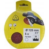 Круг шлифовальный на бумажной основе Klingspor PS 18 EK 125 мм p100 без отверстий упаковка 315541