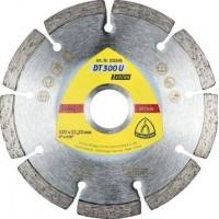 Алмазный отрезной круг Klingspor DT300U 125 x 1.6 x 22.23 мм 9 сегментов 36.4x1.6x7 стандартные зубья 325346
